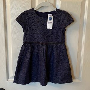 Gap Lace Bow Dress in Midnight - NEW! 🎀